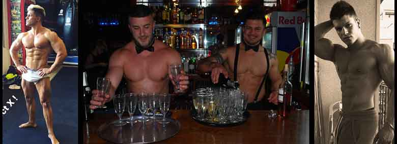 Benidorm Butlers In The Buff sexy waiters