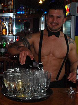 Javi butler in the buff waiter
