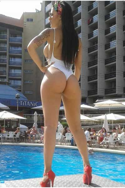 Naughty Nikki Benidorm Female Stripper